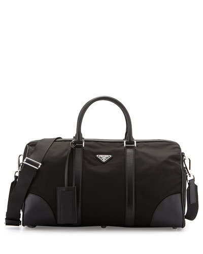 bc2327bef6fd Prada Men's Nylon & Saffiano Duffel Bag, Black (Nero) | ModeSens