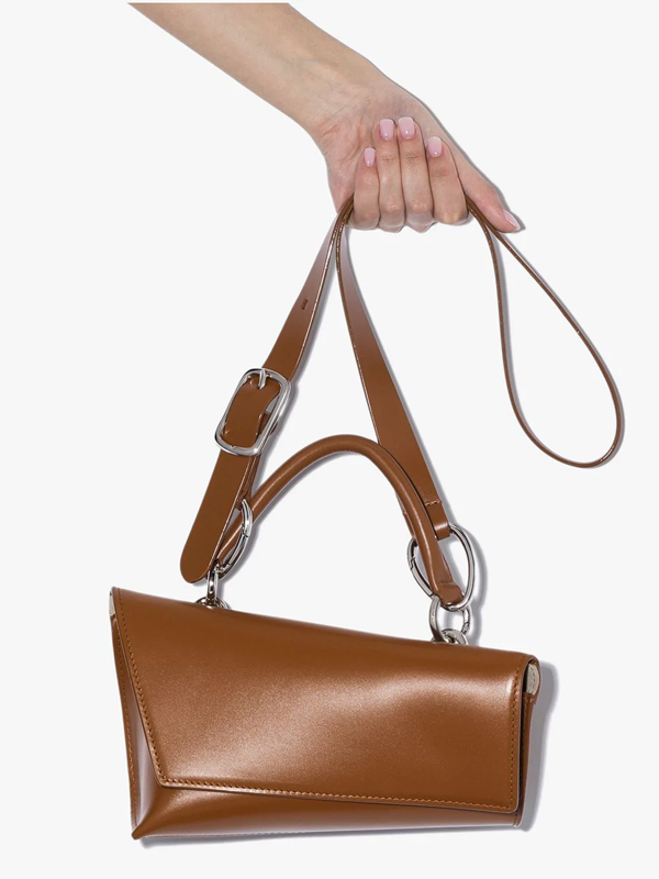 Venczel Brown Vx Leather Shoulder Bag