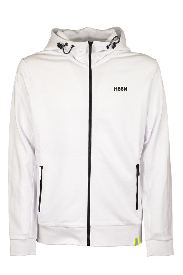Hogan H86n Printed Cotton Hoodie In White
