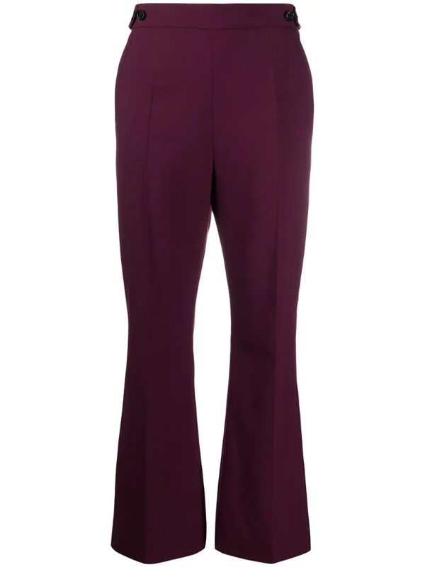 Marni High-waisted Flared Trousers In Purple