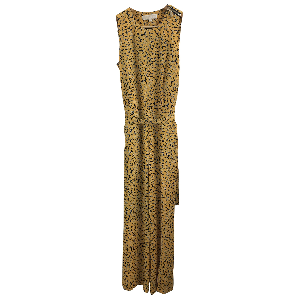 Michael Kors Yellow Cotton Jumpsuit