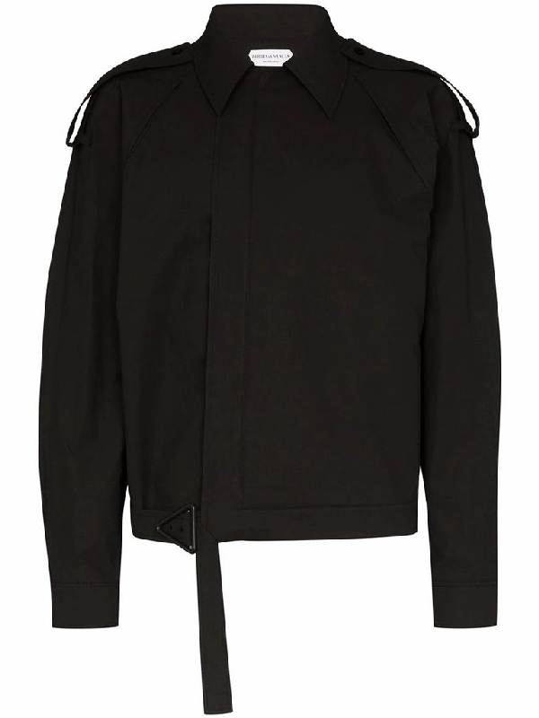 Bottega Veneta Men's Black Cotton Outerwear Jacket