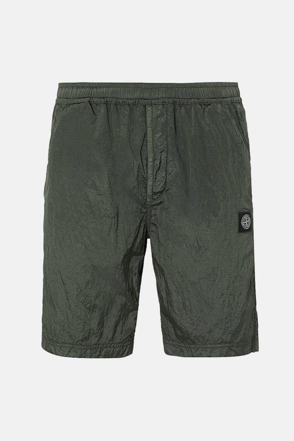 Stone Island Cargo Bermuda Shorts In Olive