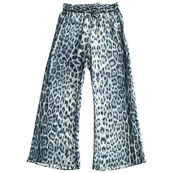 Roberto Cavalli Beachwear Blue Cotton Swimwear