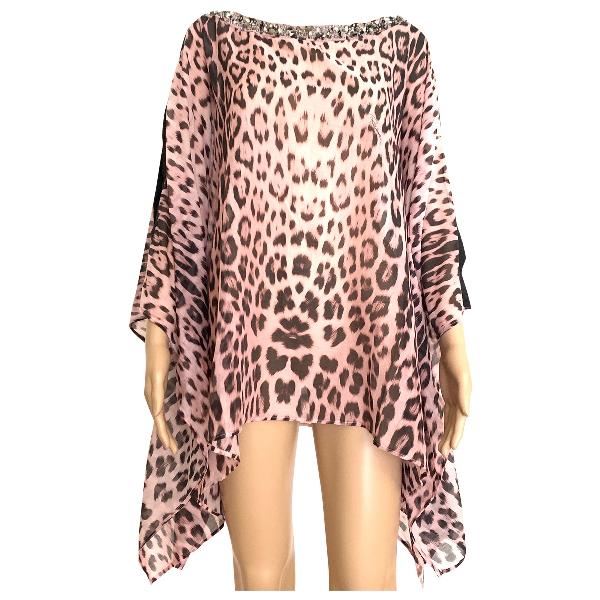 Roberto Cavalli Beachwear Pink Cotton  Top