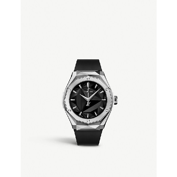 Hublot 550.ns.1800.rx. Orl19 Classic Fusion Orlinski Titanium Watch In Black And Silver