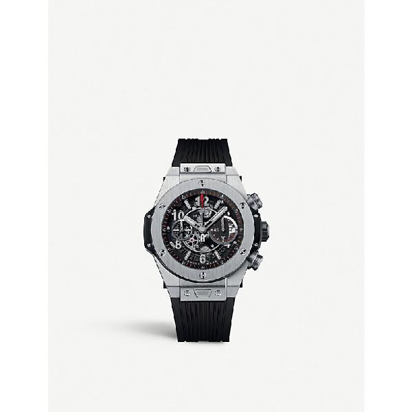 Hublot 411.nx.1170.rx.1104 Big Bang Unico Titanium Watch In Black