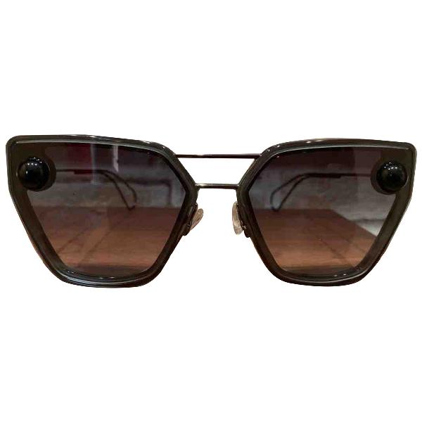 Christopher Kane Black Metal Sunglasses