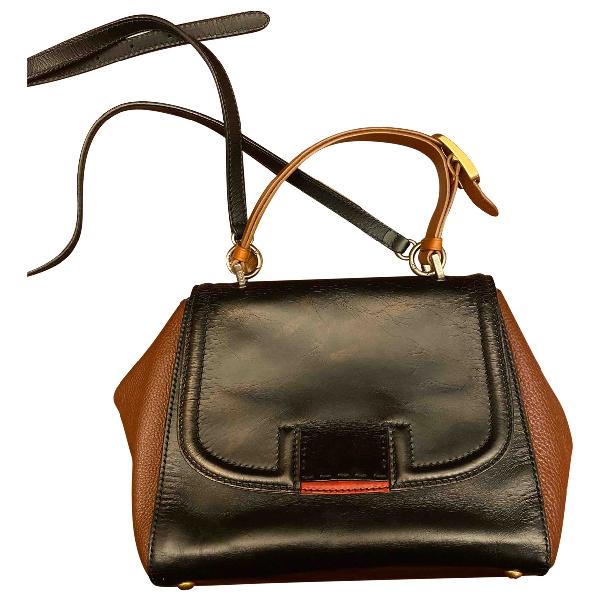 Fendi Silvana Black Leather Handbag