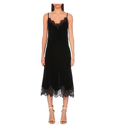 Sandro Daydream Velvet Dress Modesens