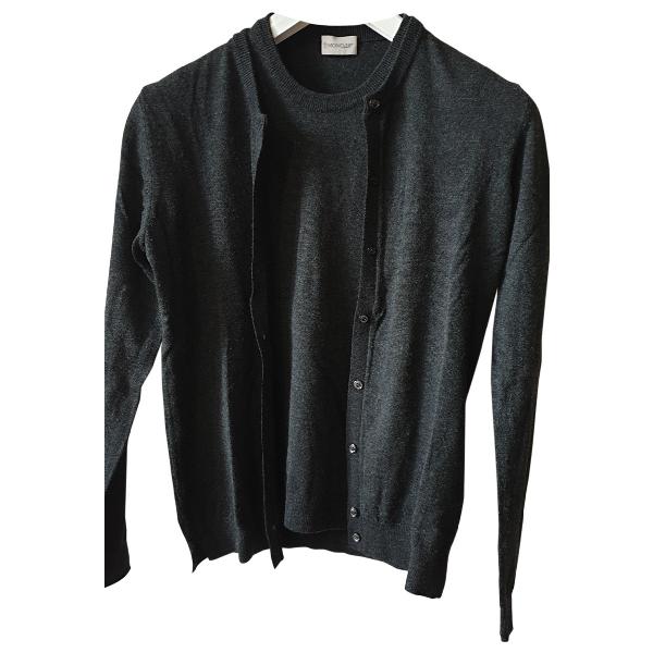 Moncler Anthracite Wool Knitwear
