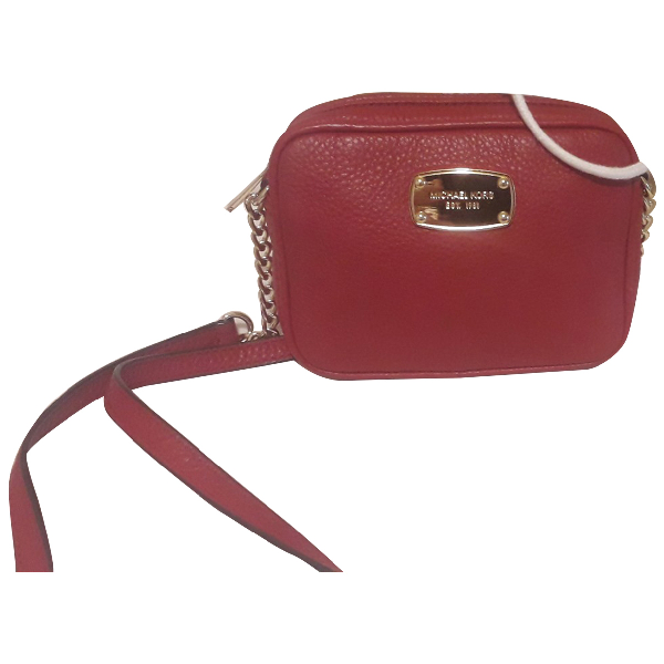 Michael Kors Red Leather Clutch Bag