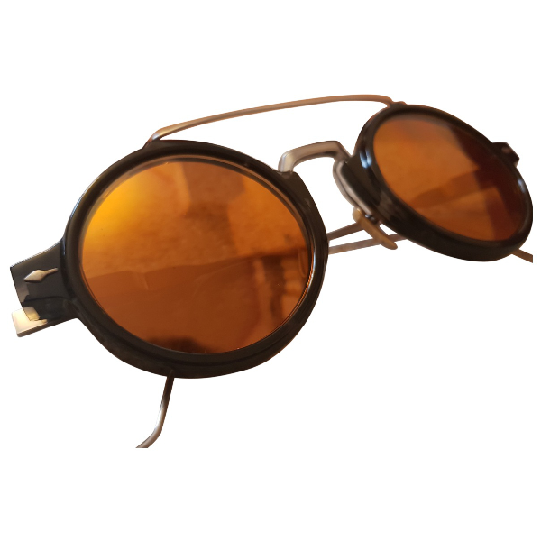 Jacquesmariemage Black Metal Sunglasses