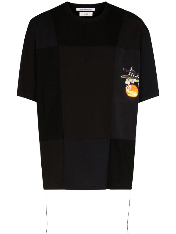 Children Of The Discordance X Semble StÜssy Patchwork T-shirt In Black