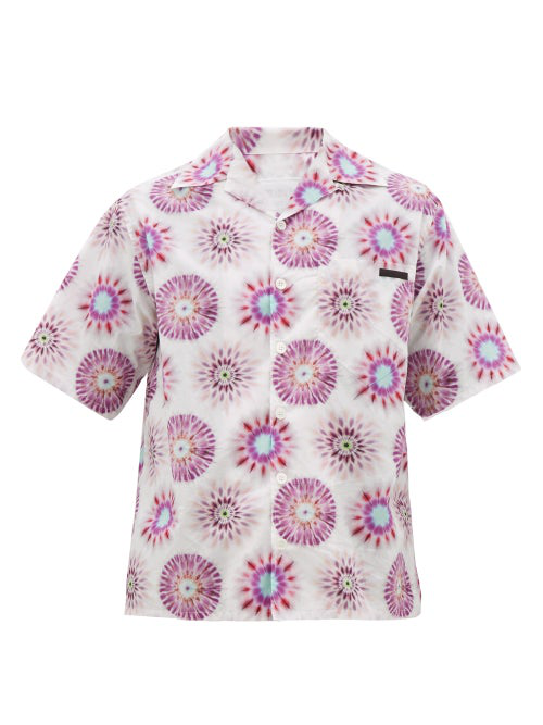 Prada Graphic-print Cotton Shirt In White