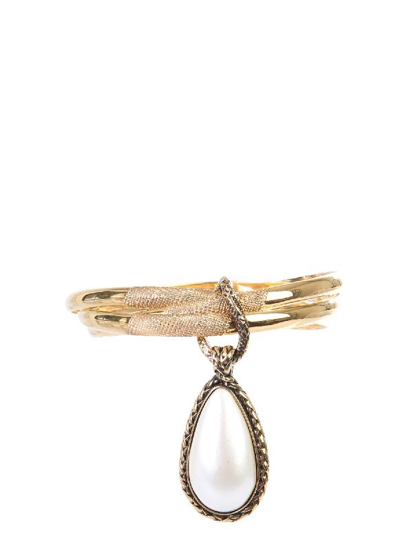 "Alexander Mcqueen ""trinity"" Bracelet In Gold"