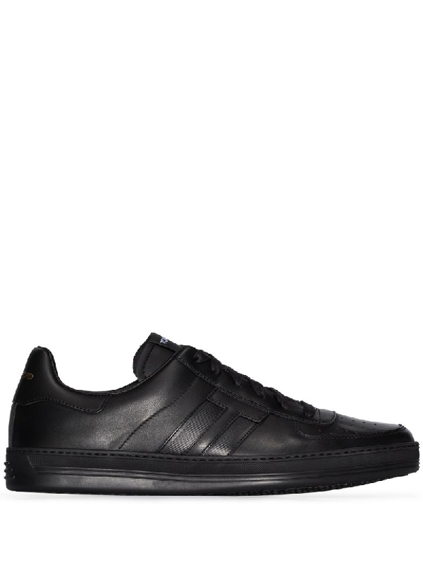 Tom Ford Black Radcliffe Leather Sneakers