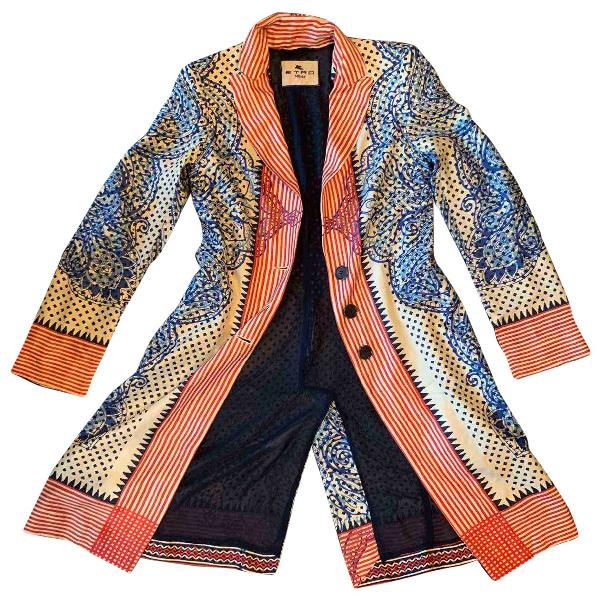 Etro Multicolour Silk Coat