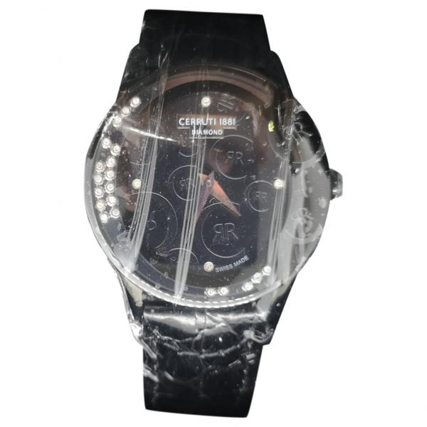 Pre-owned Cerruti 1881 Black Steel Watch