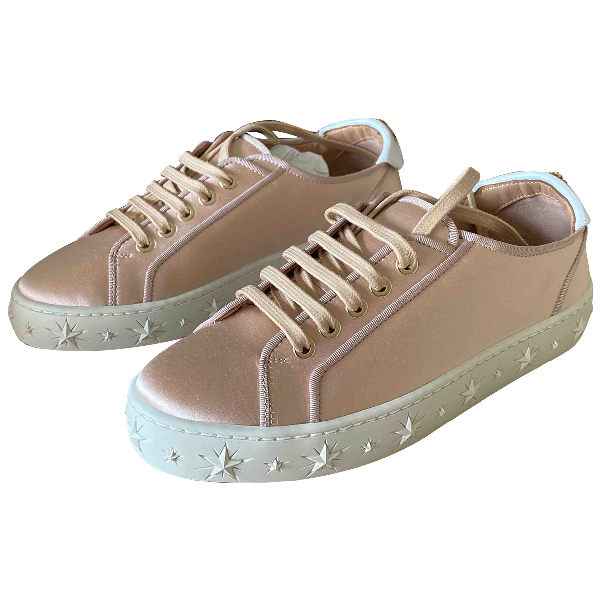 Aquazzura Pink Cloth Trainers