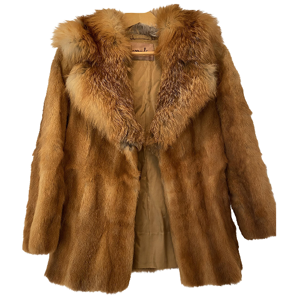 Harrods Camel Fox Coat