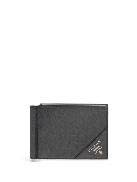 Prada Snap-fastening Wallet In Grey