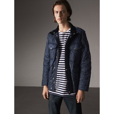 3f68a736f7f Burberry Diamond Quilted Field Jacket In Navy   ModeSens