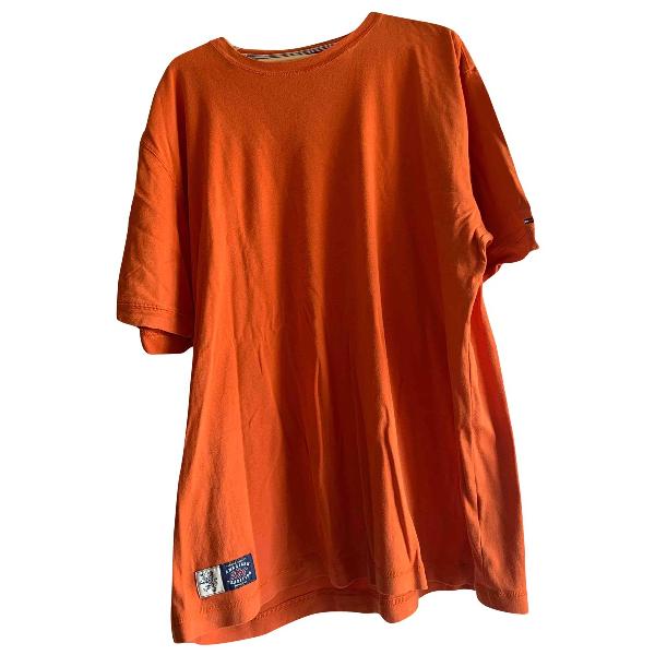 Tommy Hilfiger Orange Cotton T-shirts
