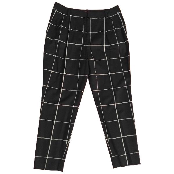 Comptoir Des Cotonniers Black Wool Trousers