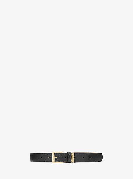 Michael Kors Reversible Logo Belt In Black