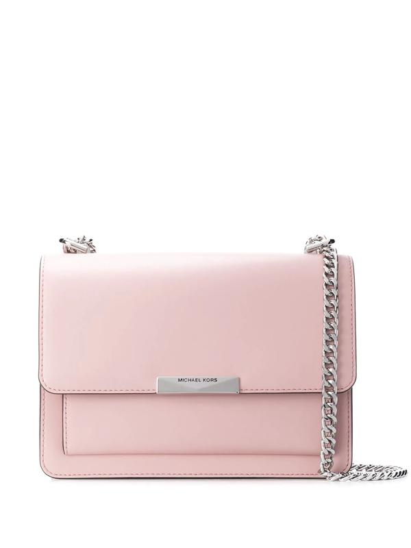 Michael Kors Jade Extra-small Leather Crossbody Bag In Pink