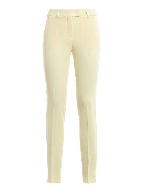 Max Mara Studio Women's 6131010706027 Beige Acetate Pants In Yellow