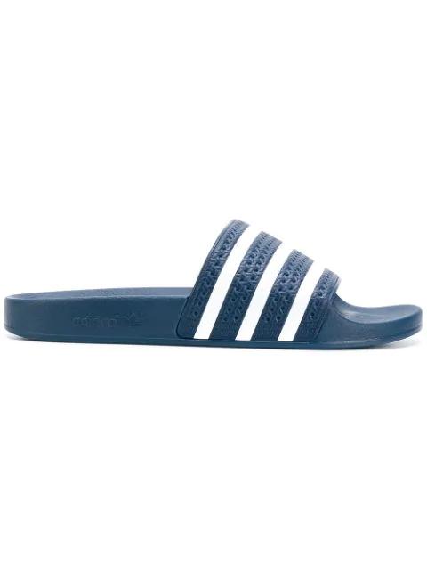 Adidas Originals Men's Adilette Slide Sandals In Blue