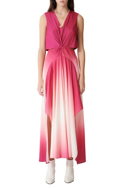 Maje Resia Sleeveless Ombre Maxi Dress In Pink