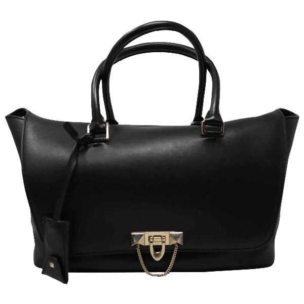 Valentino Garavani Demilune Black Leather Handbag
