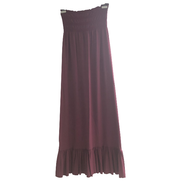 Daniele Alessandrini Burgundy Cotton - Elasthane Dress