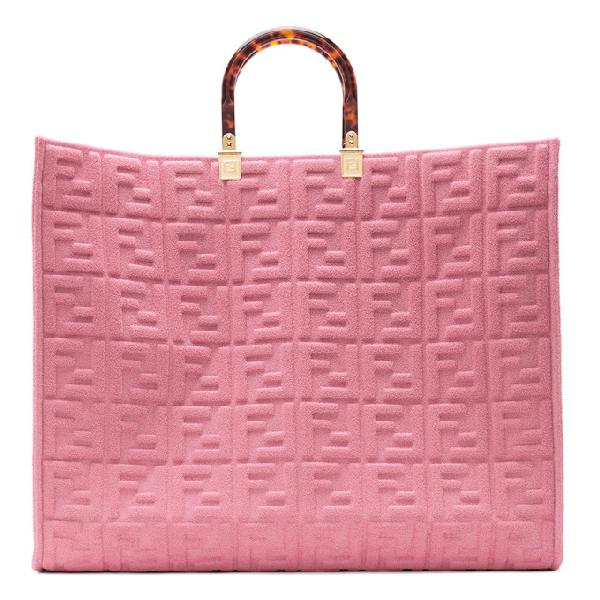 Fendi Sunshine Shopper Terry Tote In F082f Pink
