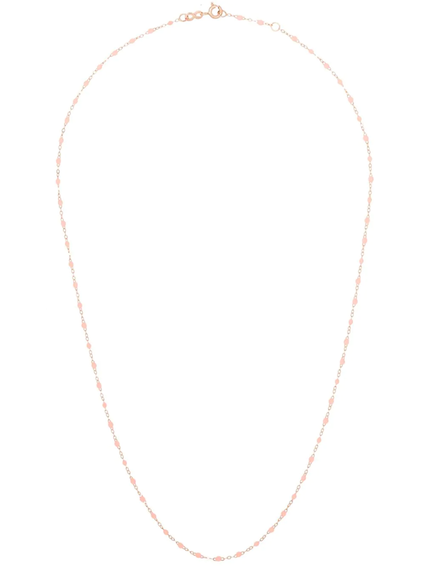 Gigi Clozeau 18kt Rose Gold Saumon Bead Necklace In R48 Pink