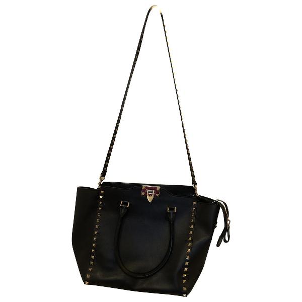 Valentino Garavani Rockstud Black Leather Handbag