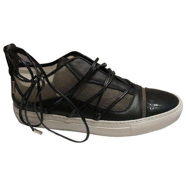 Dsquared2 Black Leather Espadrilles