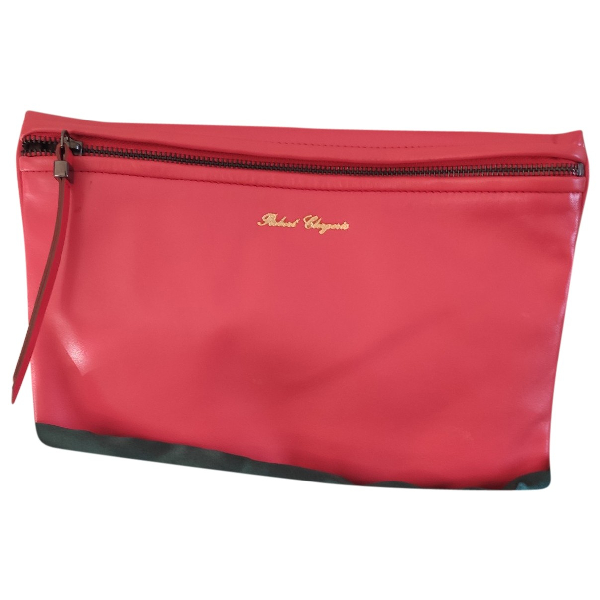 Robert Clergerie Pink Leather Clutch Bag