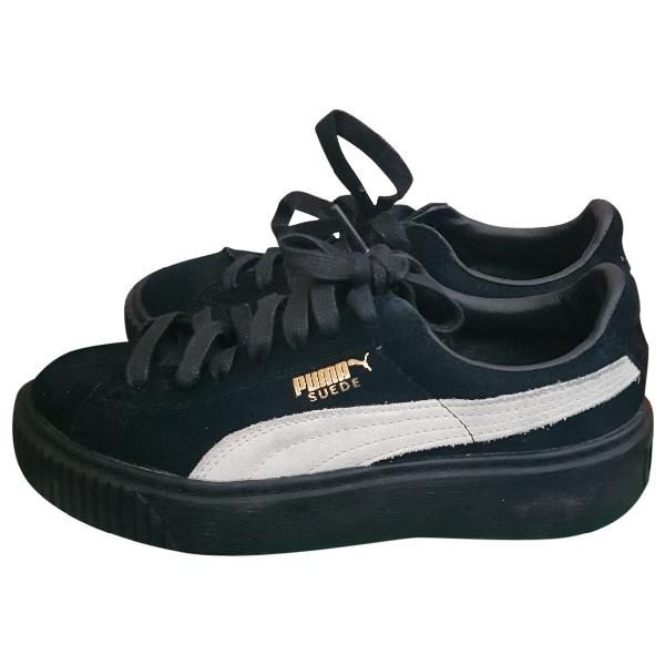 Fenty X Puma Black Suede Trainers