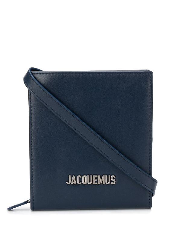 Jacquemus Le Gadjo Strapped Leather Wallet In Navy