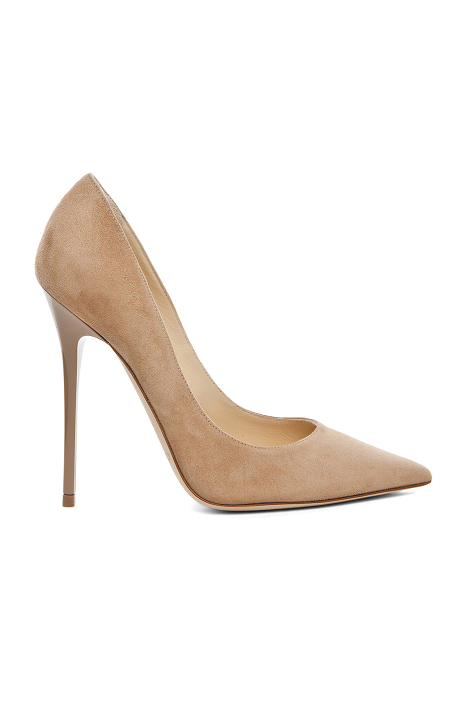 Jimmy Choo Anouk 120 Suede Pumps In Neutral
