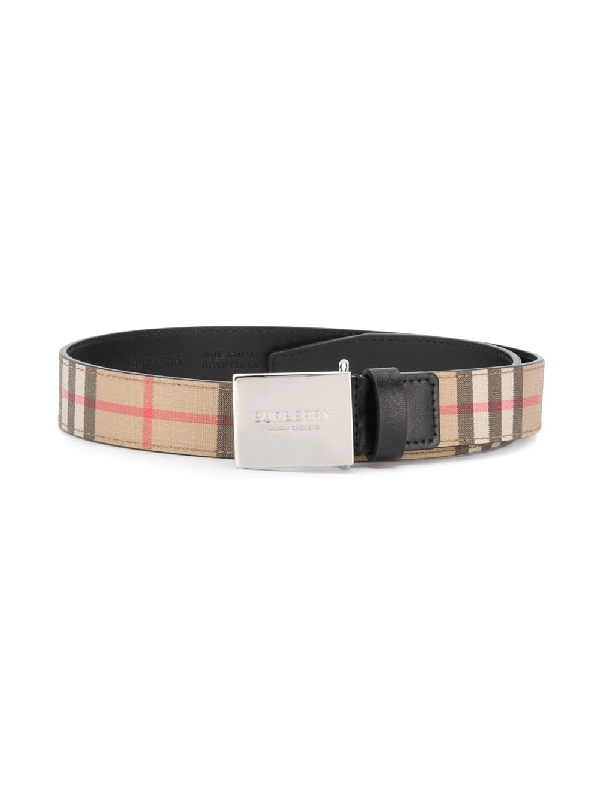 Burberry Kids' Checked Woven Belt 2-6 Years In Neutrals