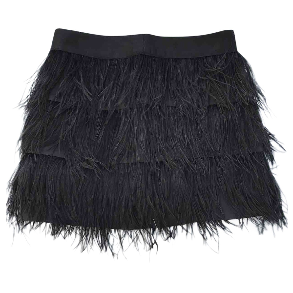 Milly Black Silk Skirt
