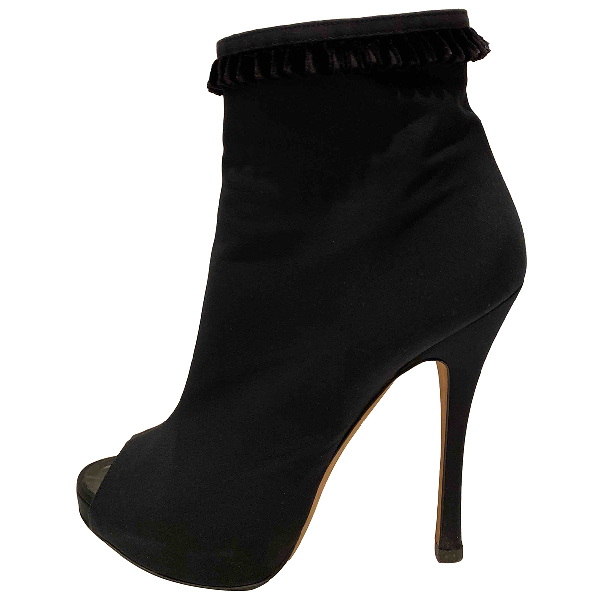 Dsquared2 Black Cloth Ankle Boots