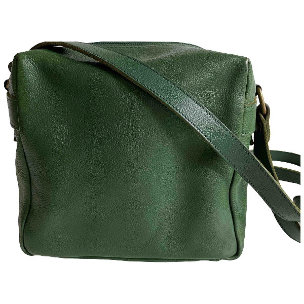 Il Bisonte Green Leather Travel Bag
