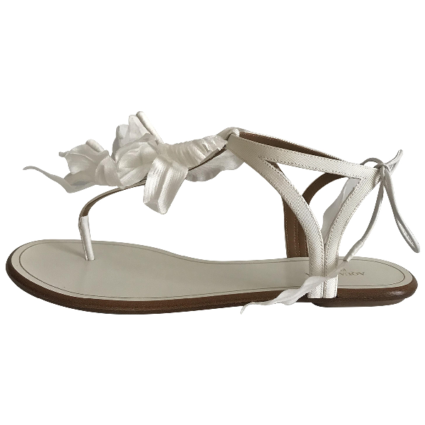 Aquazzura White Leather Sandals