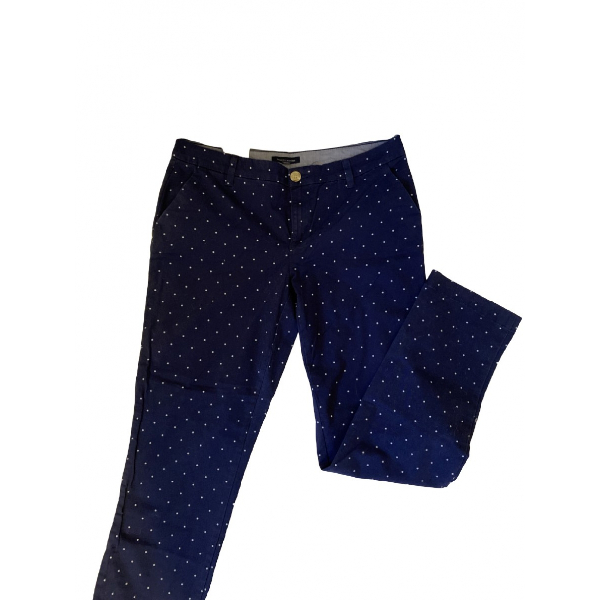 Tommy Hilfiger Navy Cotton Trousers